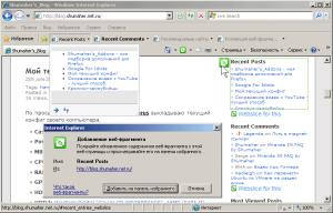 WebSlices в IE8